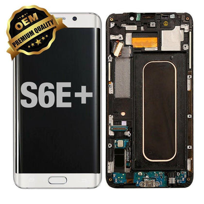 LCD Assembly With Frame for GALAXY S6 EDGE PLUS (G928) (Premium) - White