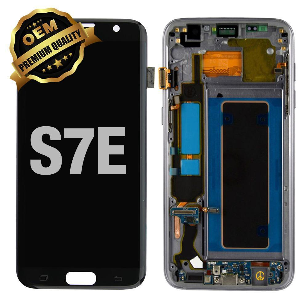 LCD Assembly With Frame for GALAXY S7 EDGE (G935) (Premium) - Black