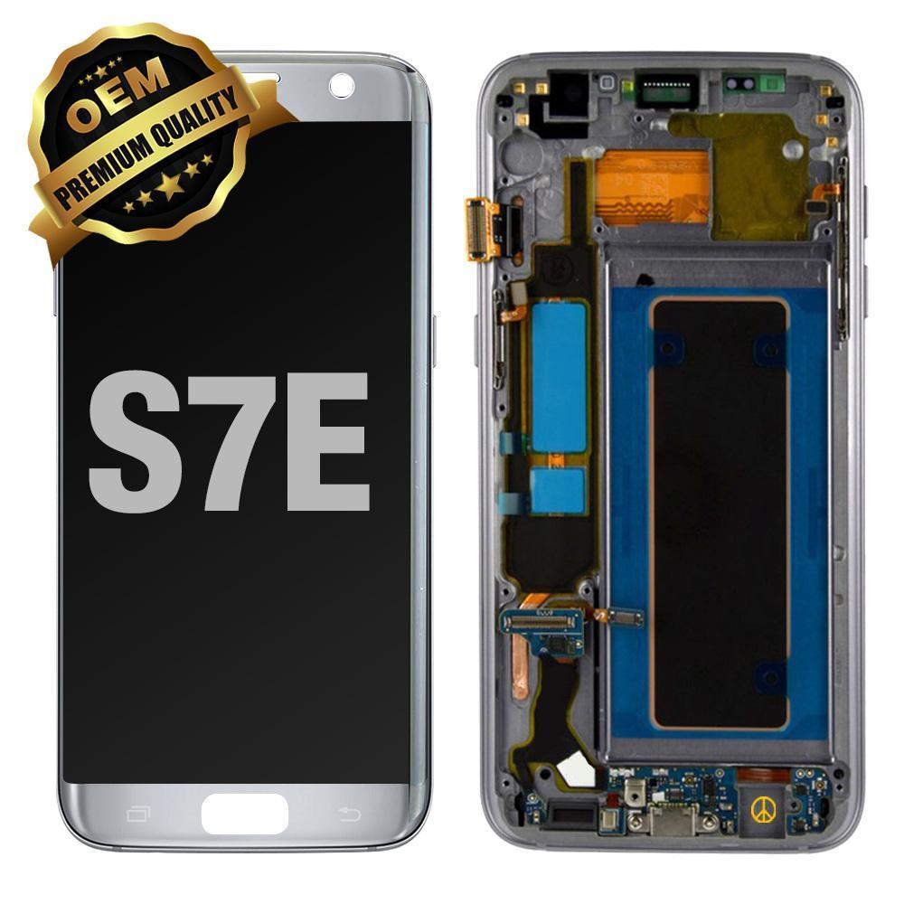 LCD Assembly With Frame for GALAXY S7 EDGE (G935) (Premium) - Silver