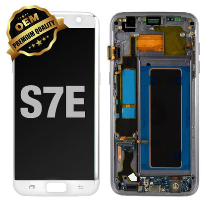 LCD Assembly With Frame for GALAXY S7 EDGE (G935) (Premium) - White
