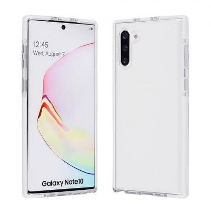 Elastic Clear Case for Note 10 Plus - White Edge