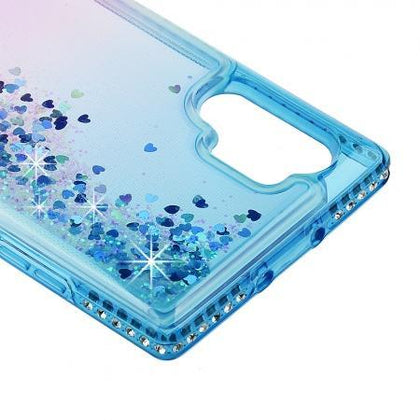 Diamond Edge Liquid Case for Samsung Galaxy Note 10 Plus - Blue & Purple