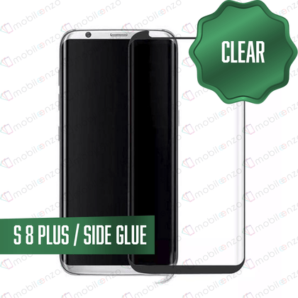Tempered Glass for Samsung Galaxy S Series (Standard) - S8 Plus- Case Friendly Black
