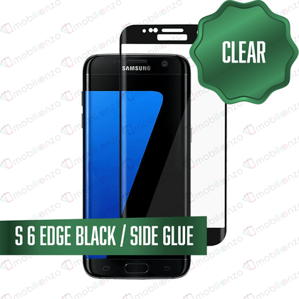 Tempered Glass for Samsung Galaxy S Series (Standard) - S6 Edge - Black