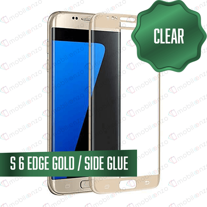 Tempered Glass for Samsung Galaxy S Series (Standard) - S6 Edge - Gold
