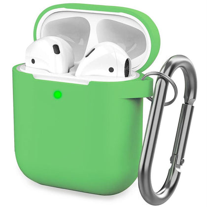 Premium Silicone Case for Apple Airpods - Green