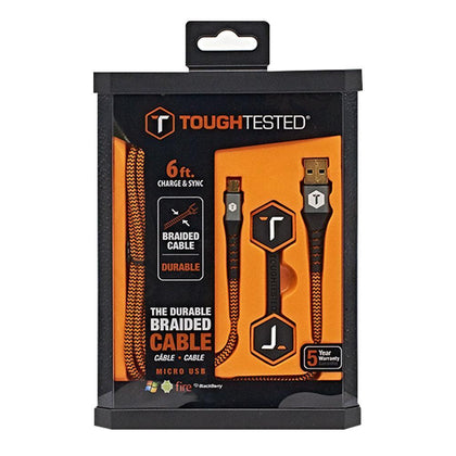 ToughTested 6 ft. Fabric Micro Usb Cable - Android | MobilEnzo