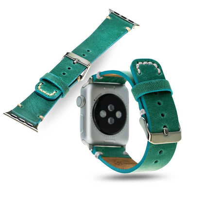BNT Genuine Leather Watch Band - Crazy - 38mm - Turquoise