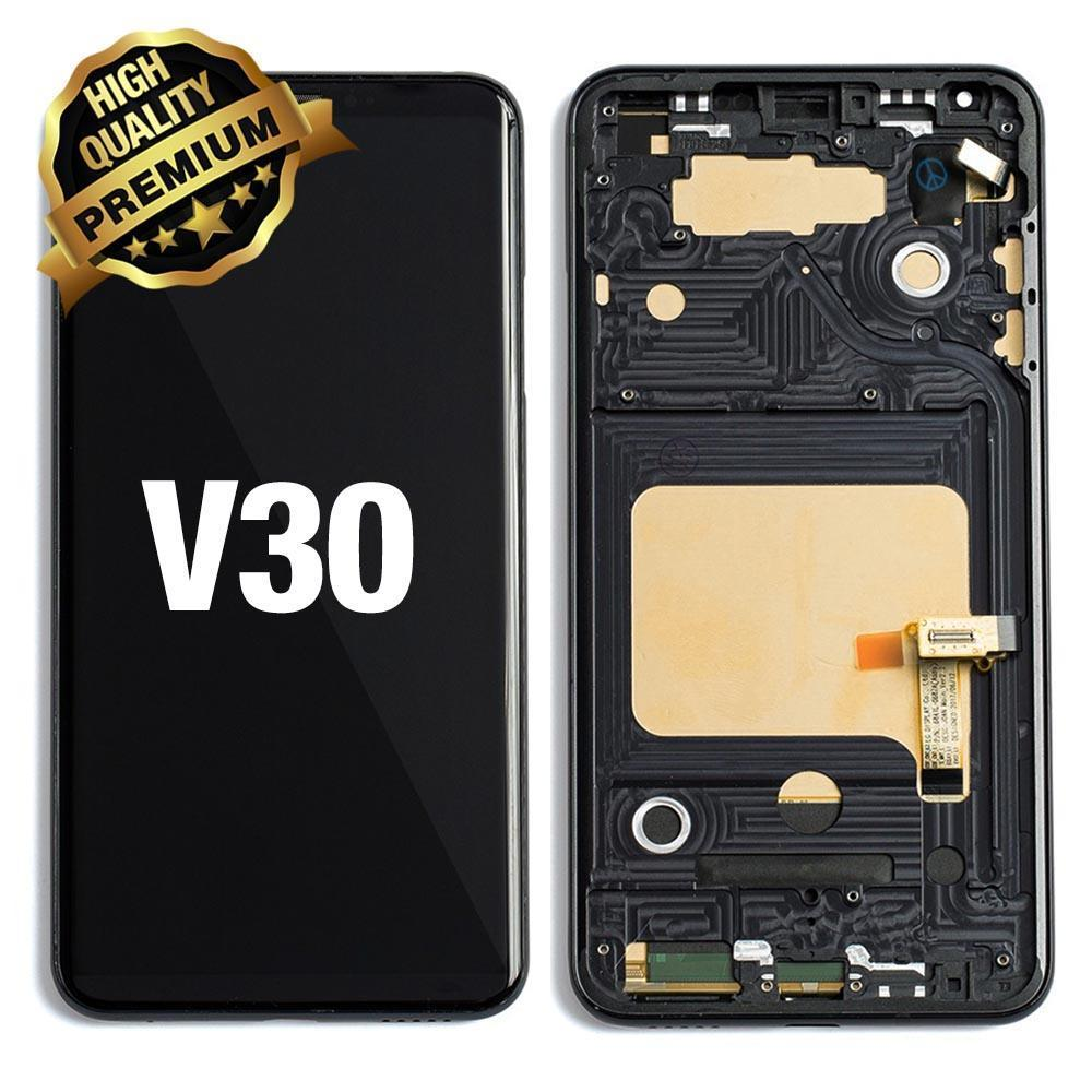 LCD Assembly for LG V30 With Frame (Premium Quality) - Black