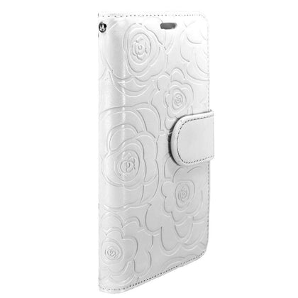 Rose Wallet Case for iPhone 5C - White
