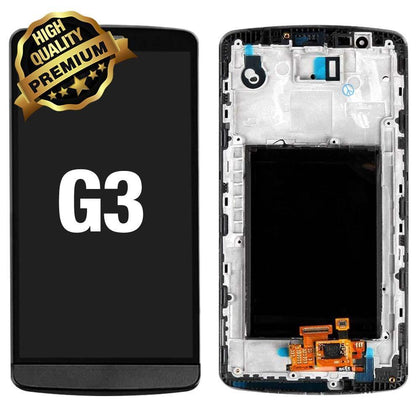 LCD Assembly for LG G3 With Frame (Premium Quality) - Black | MobilEnzo