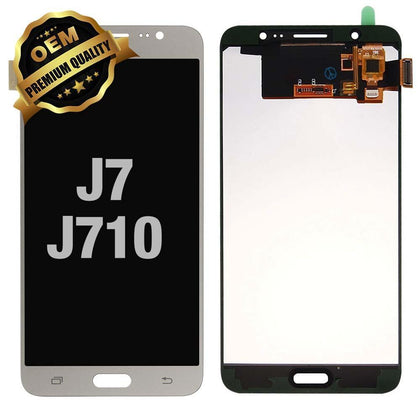 LCD Assembly for GALAXY J7 (J710 / 2016) (Premium) - White