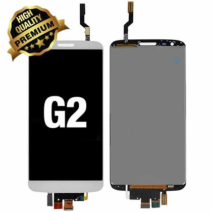 LCD Assembly for LG G2 (Premium Quality) - White | MobilEnzo