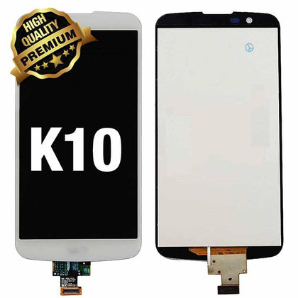 LCD Assembly  for LG K10 (K410) 2016 Without Frame (Premium Quality) - White | MobilEnzo