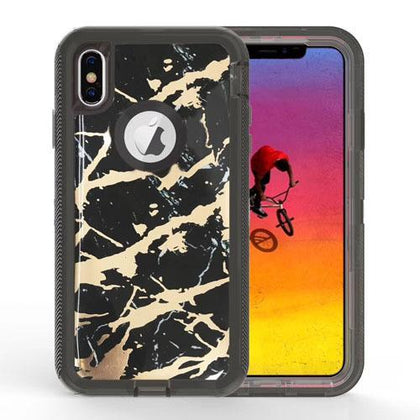 Shock Proof Marble Case for iPhone 11 Black