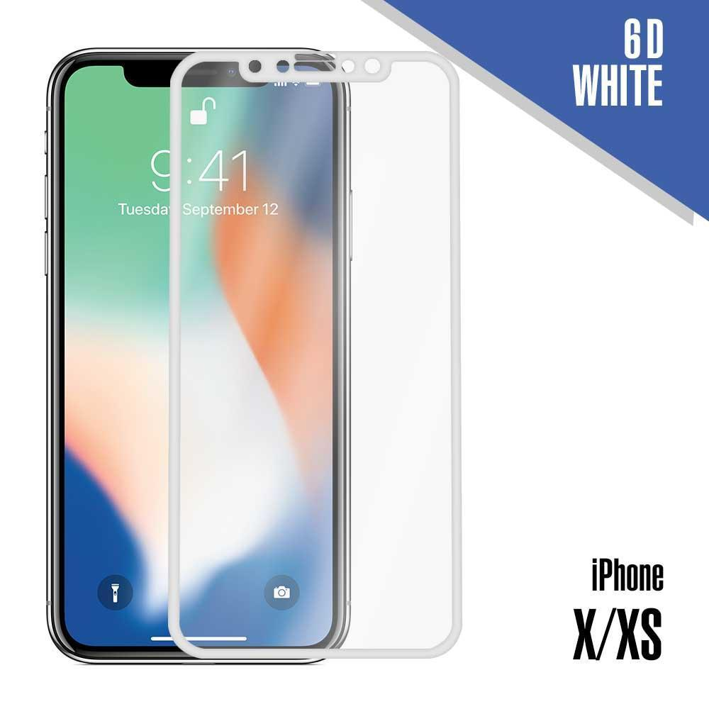 6D Tempered Glass for iPhone X, XS, 11 pro - White