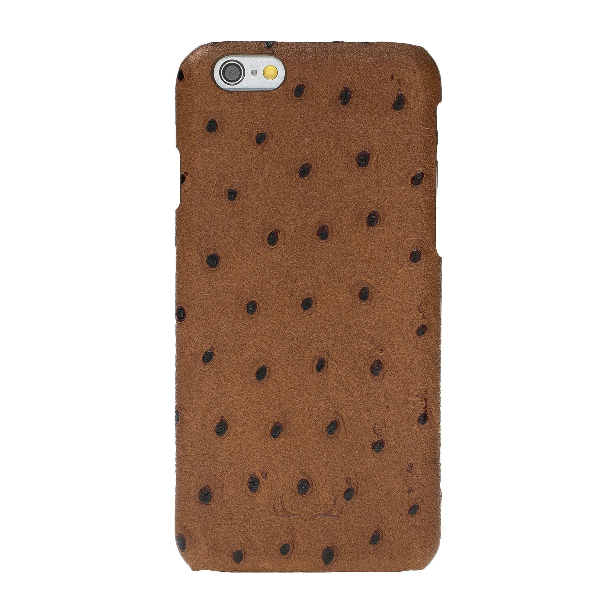 BNT Ultimate Jacket Leather Cases - Ostrich - iPhone 6/6S - Camel