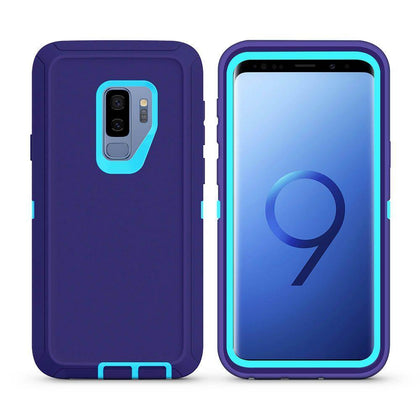 DualPro Protector Case For Samsung Galaxy S9 Plus - Purple & Light Blue