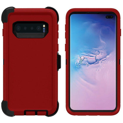 DualPro Protector Case for Samsung S10 Plus - Red & Black
