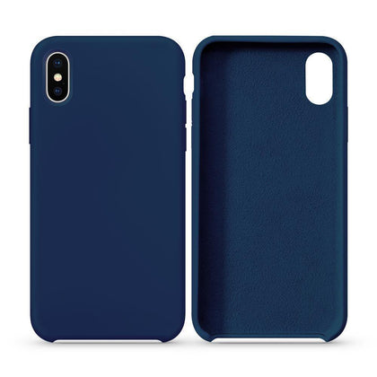 Premium Silicone Case For iPhone X, XS - Dark Blue