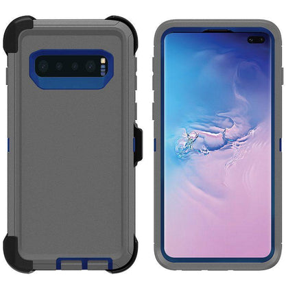 DualPro Protector Case for Samsung S10 - Grey & Dark Blue