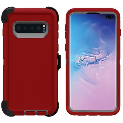 DualPro Protector Case for Samsung S10 E - Red & Grey
