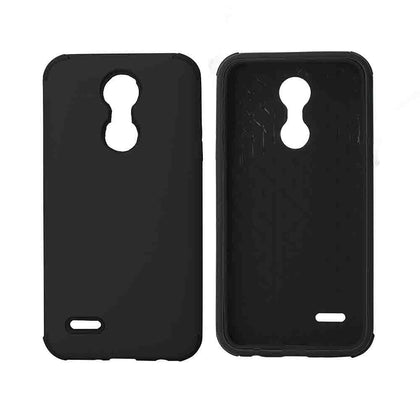 Bumper Hybrid Combo Layer Protective Case for LG Aristo 2 (k8-2018) - Black - Black