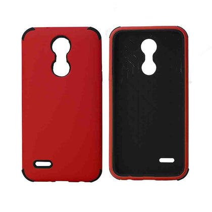 Bumper Hybrid Combo Layer Protective Case for LG Aristo 2 (k8-2018) - Black - Red & Black