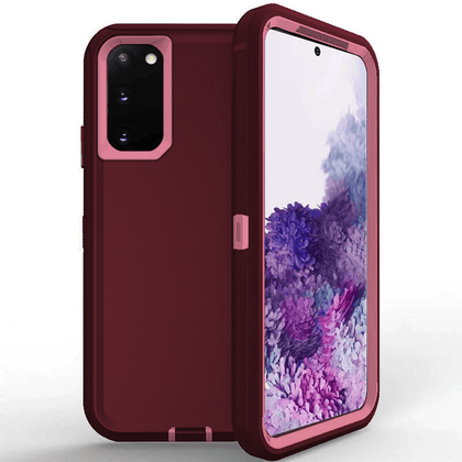 DualPro Protector Case for Galaxy Note 20 Ultra - Burgundy & Light Pink