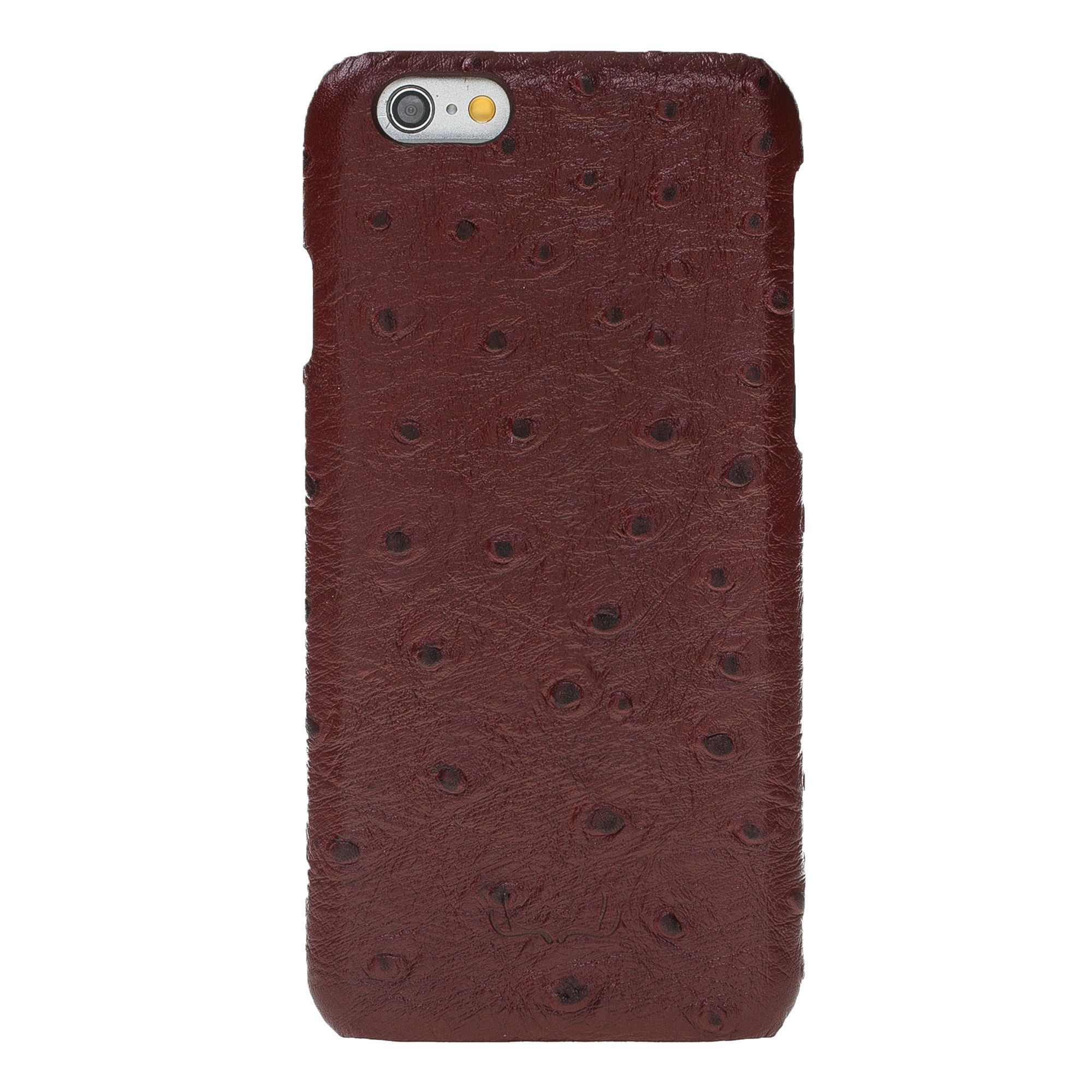 BNT Ultimate Jacket Leather Cases - Ostrich - iPhone 6/6S - Red