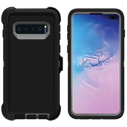 DualPro Protector Case for Samsung S10 - Black & Grey