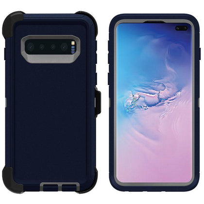 DualPro Protector Case for Samsung S10 - Dark Blue & Grey