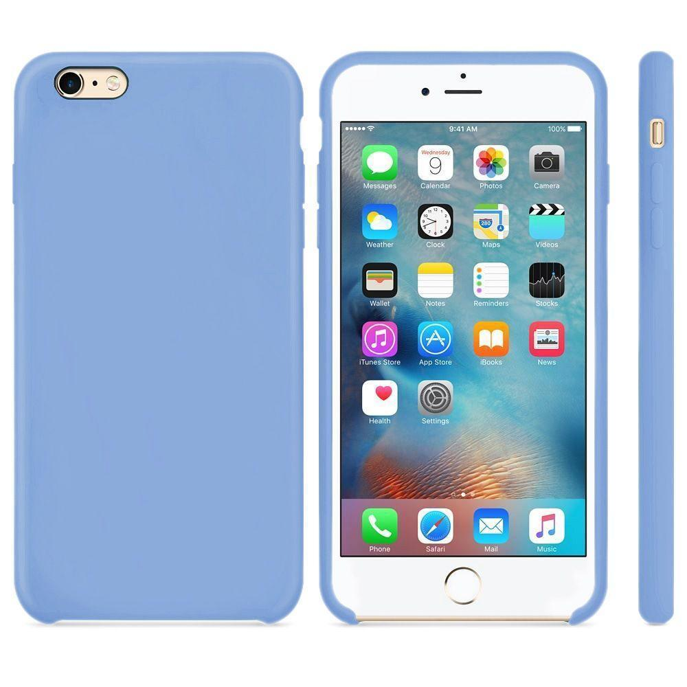 Premium Silicone Case For iPhone 6P, 6SP - Light Blue