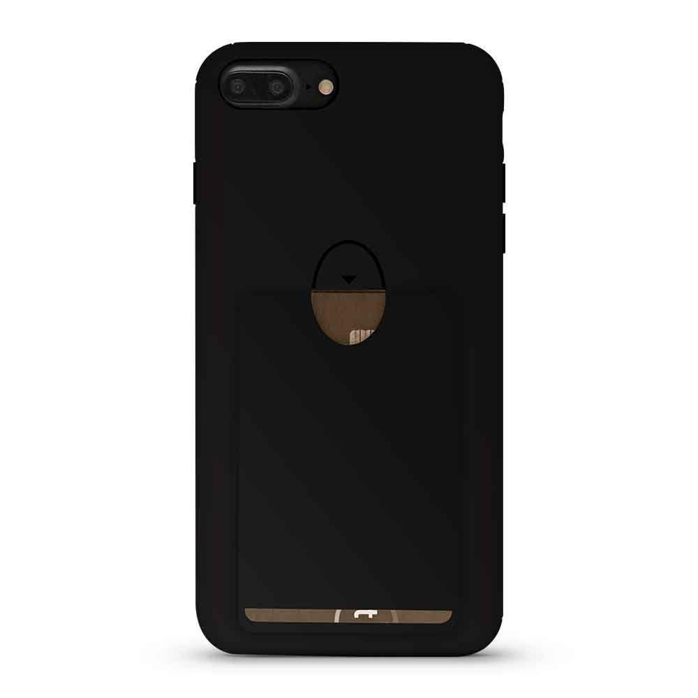 Soft  Card Case for iPhone 7 - Black