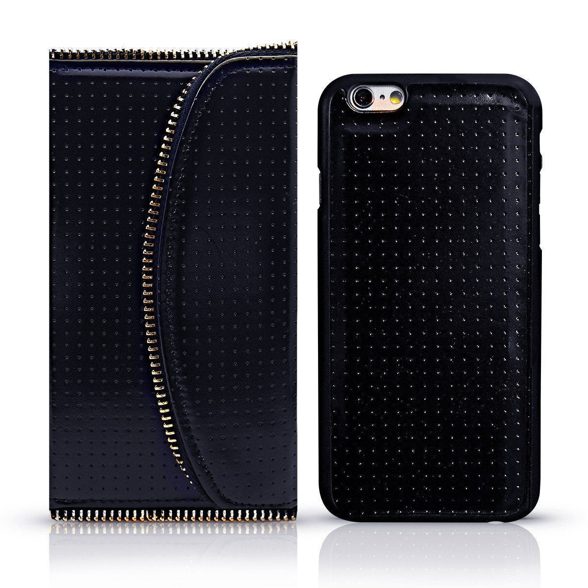 Zipper Wallet Case for I6 Plus - Black