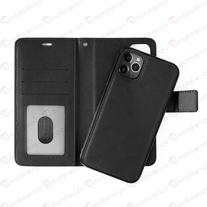 Classic Magnet Wallet Case for iPhone 12 / 12 Pro (6.1) - Black