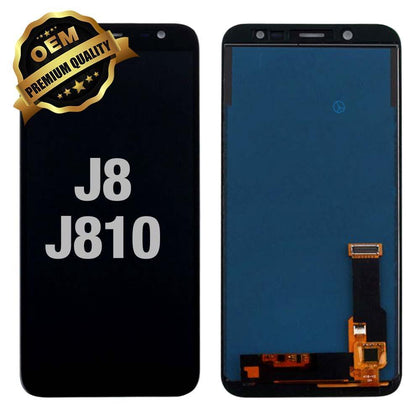 LCD Assembly for GALAXY J8 (J810/2018) (Premium) - Black