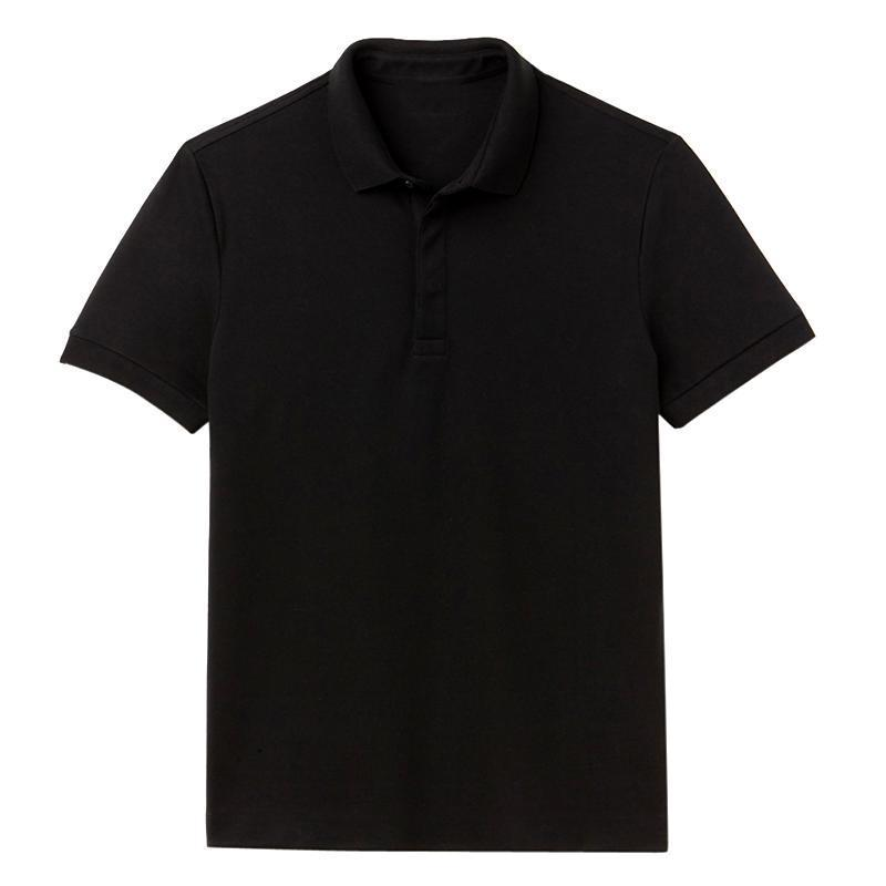Men's Black Polo T-Shirt - Size Large - Long Sleeve
