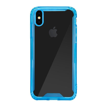 Acrylic Transparent Case for iPhone Xs Max - Blue