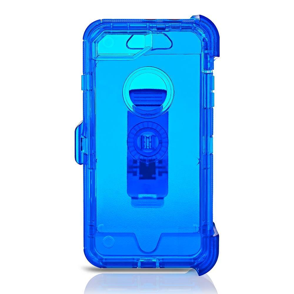 Transparent  DualPro Protector Case for iPhone 6/7/8 Plus - Blue