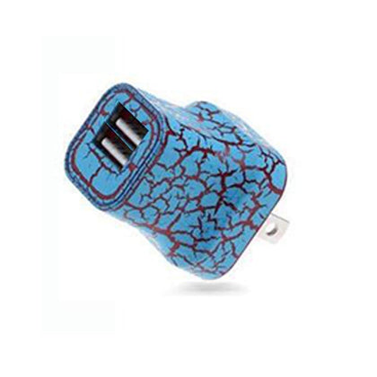 Light Up Wall Charger - 2 Port- Blue