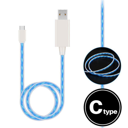 Light Up Cable for Type-C - Blue