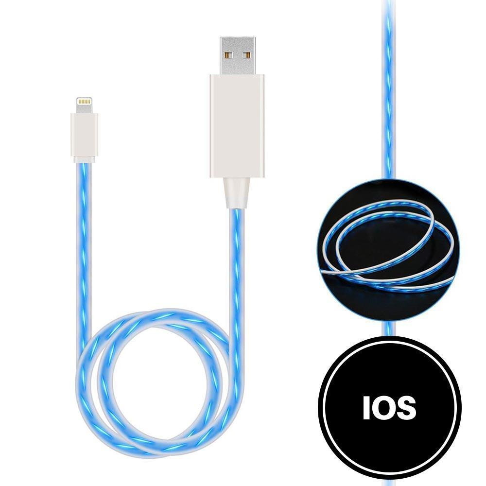 Light Up Cable for IOS - Blue