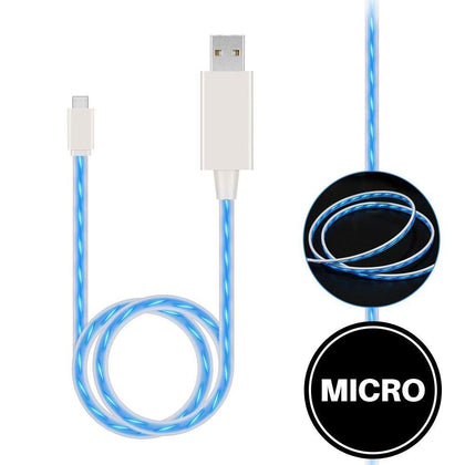 Light Up Cable for Micro - Blue