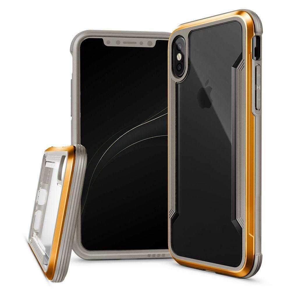 Silicone Acrylic Case for iPhone 7 - Gold