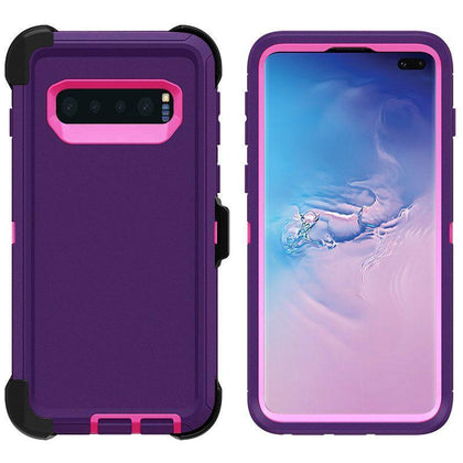 DualPro Protector Case for Samsung S10 Plus - Purple & Pink
