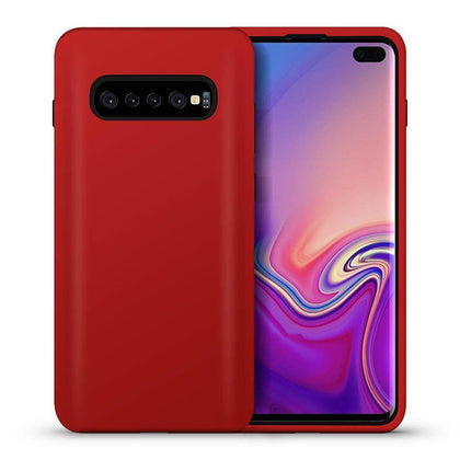 Hybrid Combo Layer Protective Case for Galaxy S10 Plus - Red