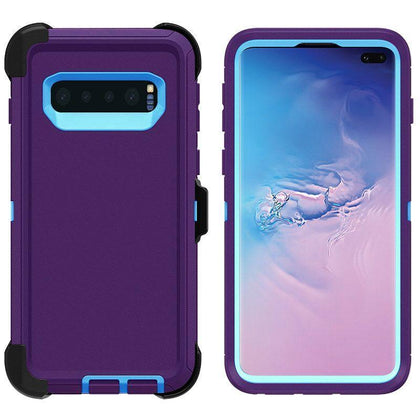 DualPro Protector Case for Samsung S10 E - Purple & Light Blue
