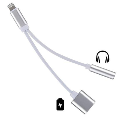 Lightning to USB-C and AUX Adapter Cable