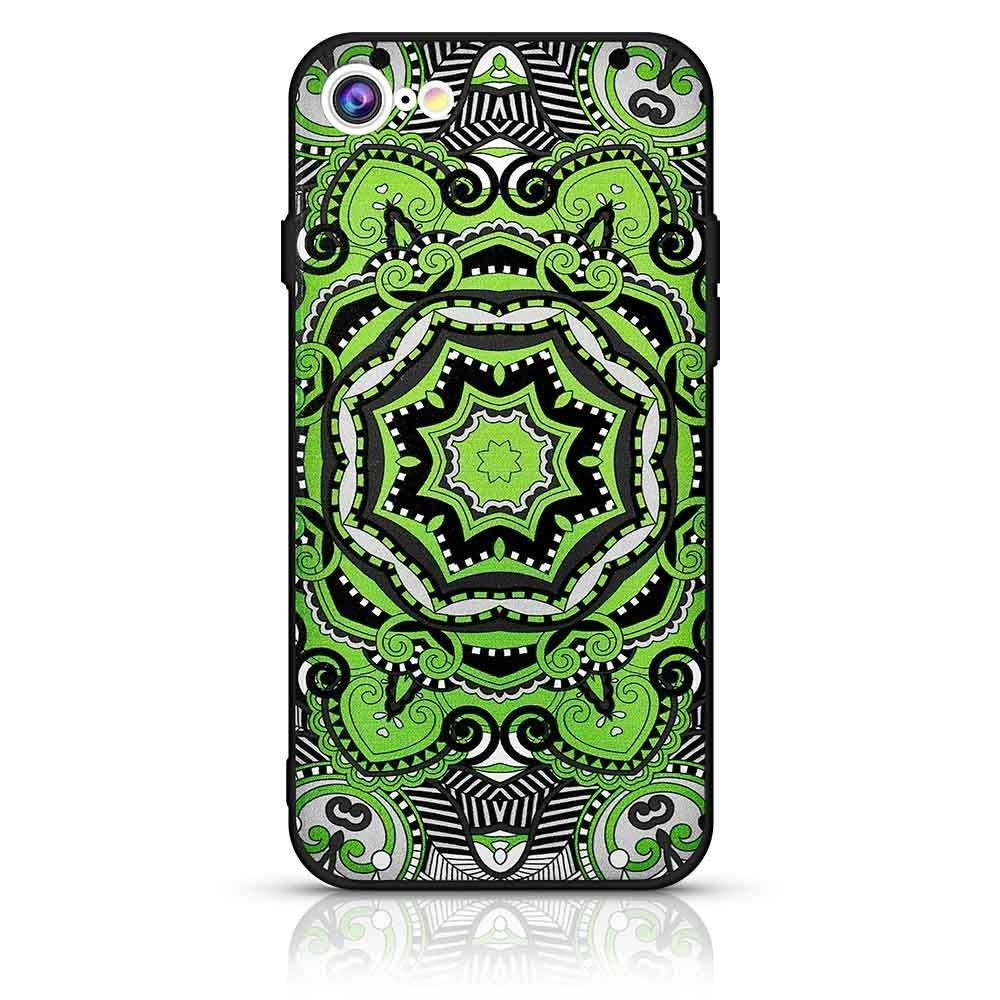Mandala Design Case for iPhone 7 /8 - Green